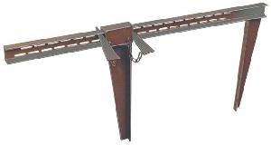 Fundamentzwinge Gr. 2, Breite bis 900 mm, Schenkellänge 500 mm, mit 2 Stck Keilen und Kette mieten leihen