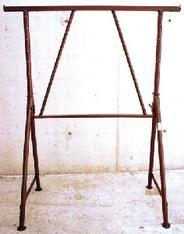 Stahlrohr-Gerüstbock lackiert, 120-195 cm ausziehbar, Tragkraft 1500 kg                           mieten leihen