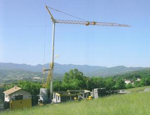 Turmdrehkran 24 m Ausladung mieten leihen