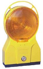 TL-Bakenleuchte doppellseitiger Lichtaustritt gelb Future mit BAST geprüft, mit Kontroll-LED mieten leihen