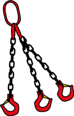 Kettengehänge 4-Strang ø 8 mm 4 m lang mieten leihen